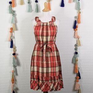Talbots Plaid Crinkle Dress
